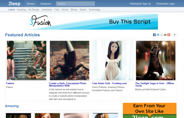 http://www.3fusion.in/2leep-clone-script.php website snapshot