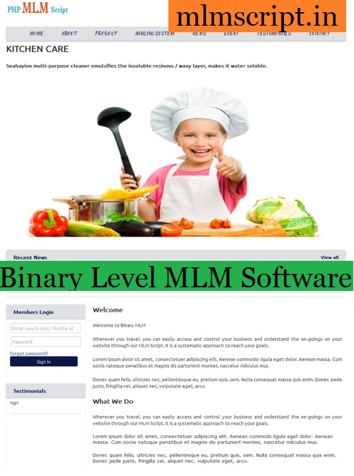 http://www.mlmscript.in/binary-level.html website snapshot