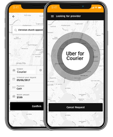 https://www.appdupe.com/uber-for-movers website snapshot