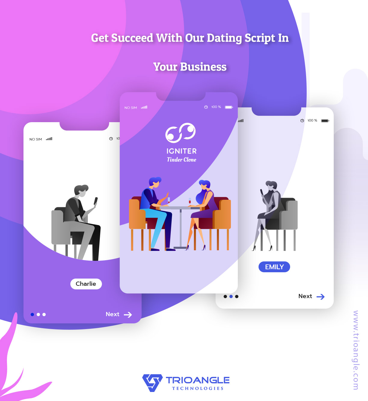 https://www.trioangle.com/Tinder-clone/ website snapshot