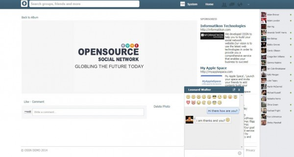 https://www.opensource-socialnetwork.org/ website snapshot
