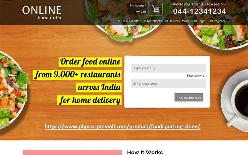 https://www.phpscriptsmall.com/product/foodspotting-clone/ website snapshot