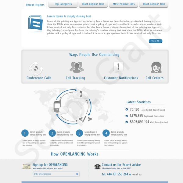http://www.freelancer-clone.com/ website snapshot