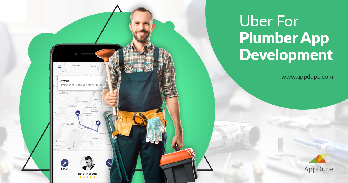https://www.appdupe.com/uber-for-plumber website snapshot