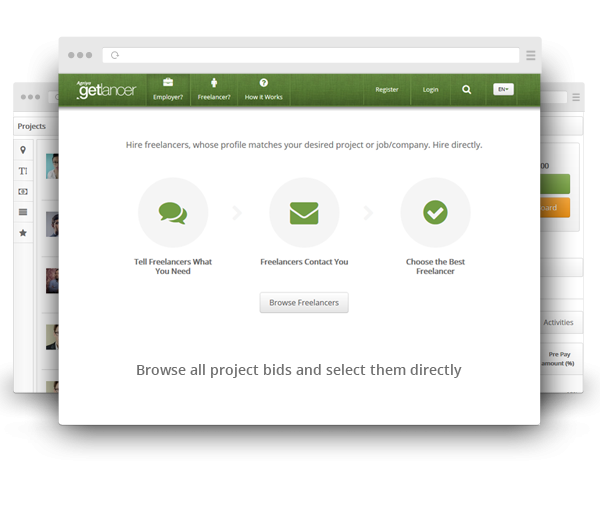 https://www.agriya.com/products/freelancer-clone website snapshot