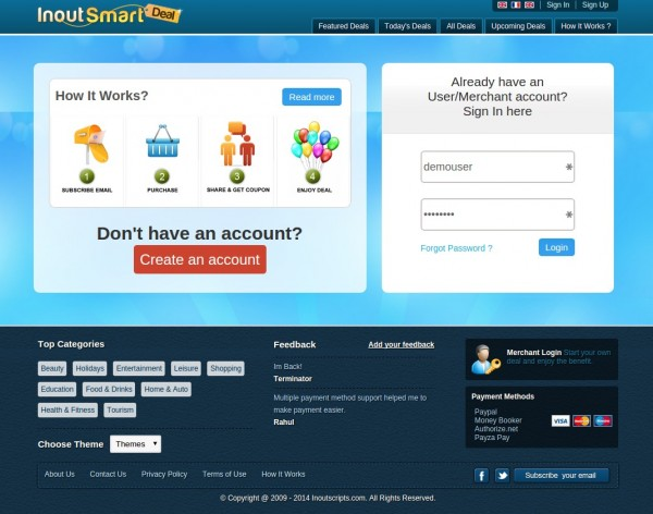 http://www.inoutscripts.com/products/inout-smartdeal/?utm_source=CloneScripts&utm_medium=Listing&utm_content=SmartDeal&utm_campaign=CloneScripts website snapshot