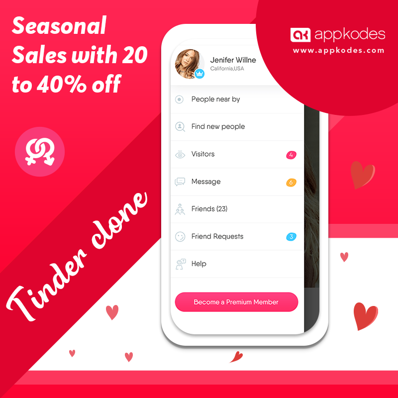 https://appkodes.com/tinder-clone/ website snapshot