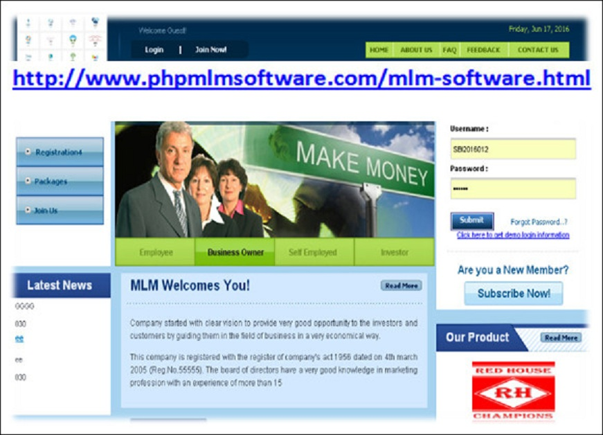 http://www.phpmlmsoftware.com/mlm-software.html website snapshot