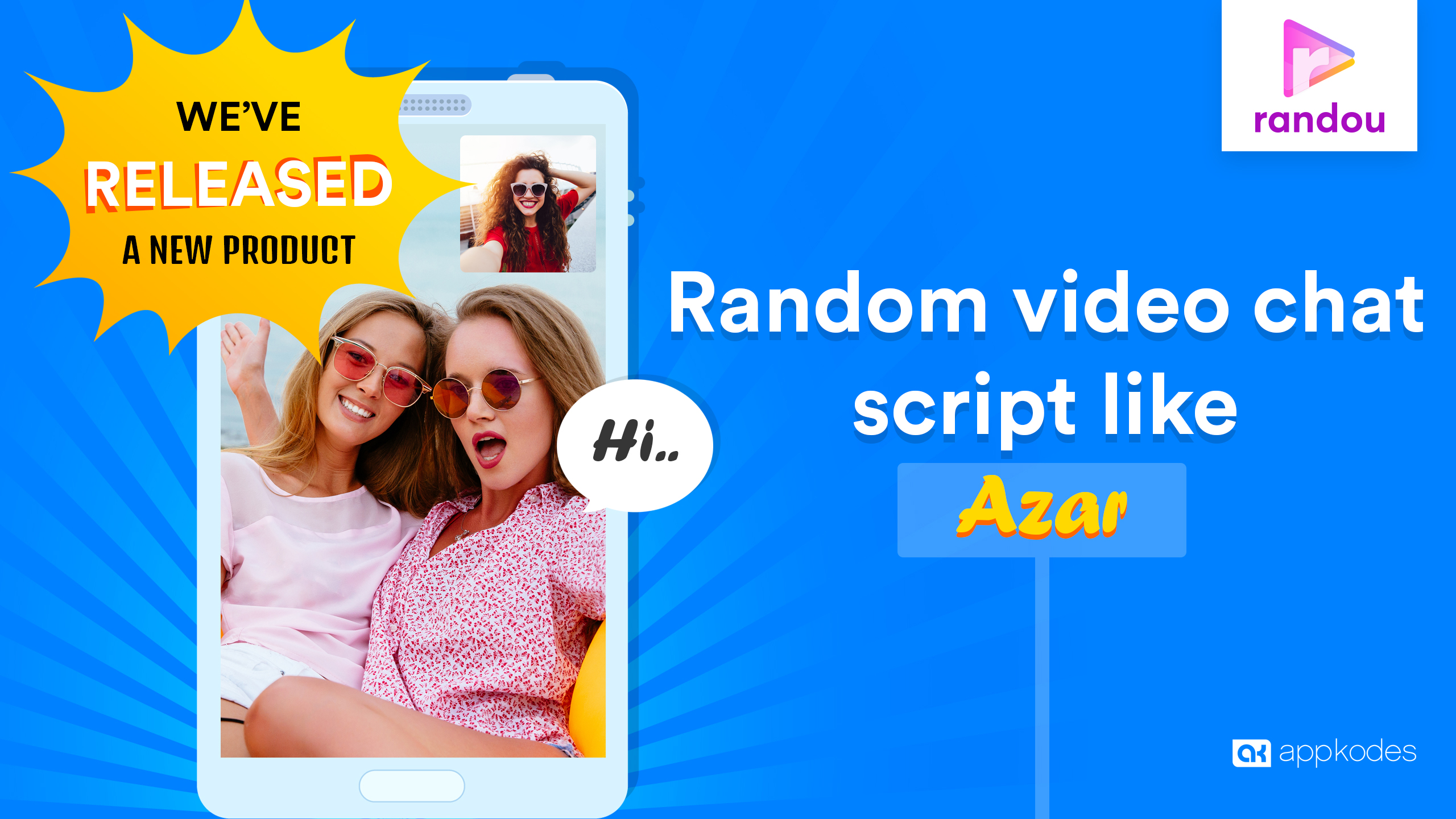 https://appkodes.com/azar-clone-random-video-chat-script/?utm_medium=randou-homepage&utm_source=script-directory&utm_campaign=u5 website snapshot