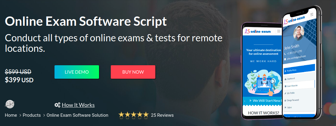 https://www.logicspice.com/online-exam-software-solution website snapshot
