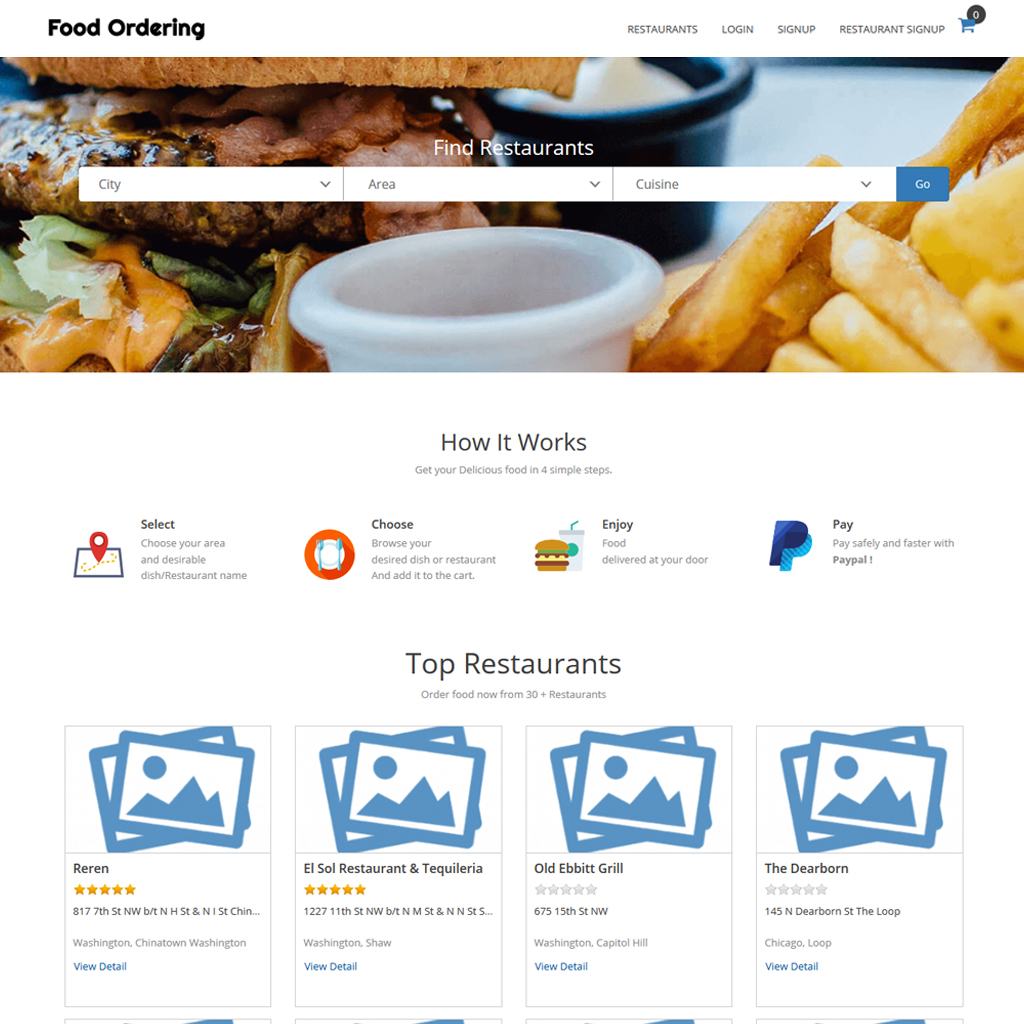 https://www.logicspice.com/products/food-ordering-script/ website snapshot