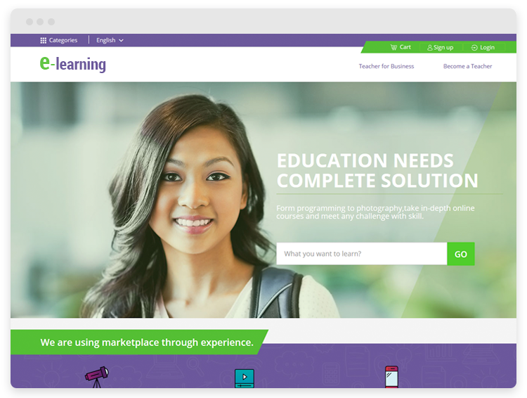 https://www.agriya.com/solutions/online-learning-solution website snapshot
