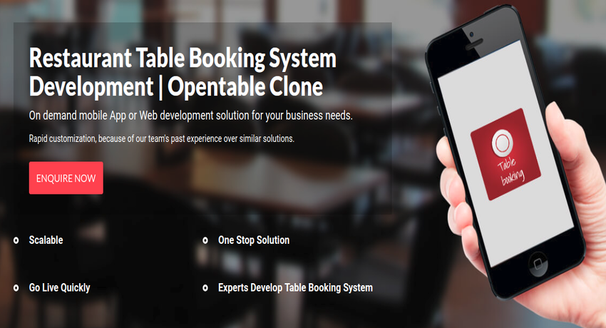 https://www.logicspice.com/restaurant-table-booking-system website snapshot