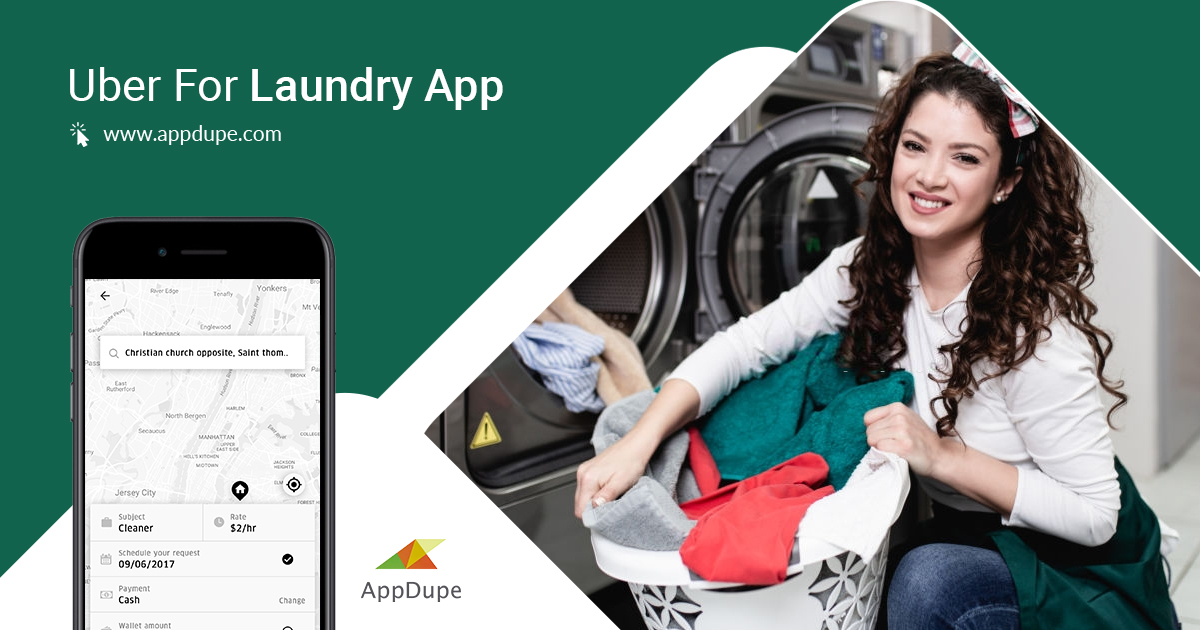 https://www.appdupe.com/uber-for-laundry website snapshot