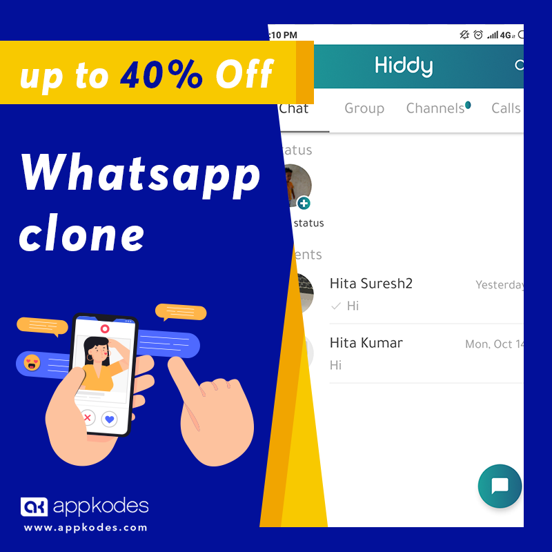 https://appkodes.com/whatsapp-clone/ website snapshot