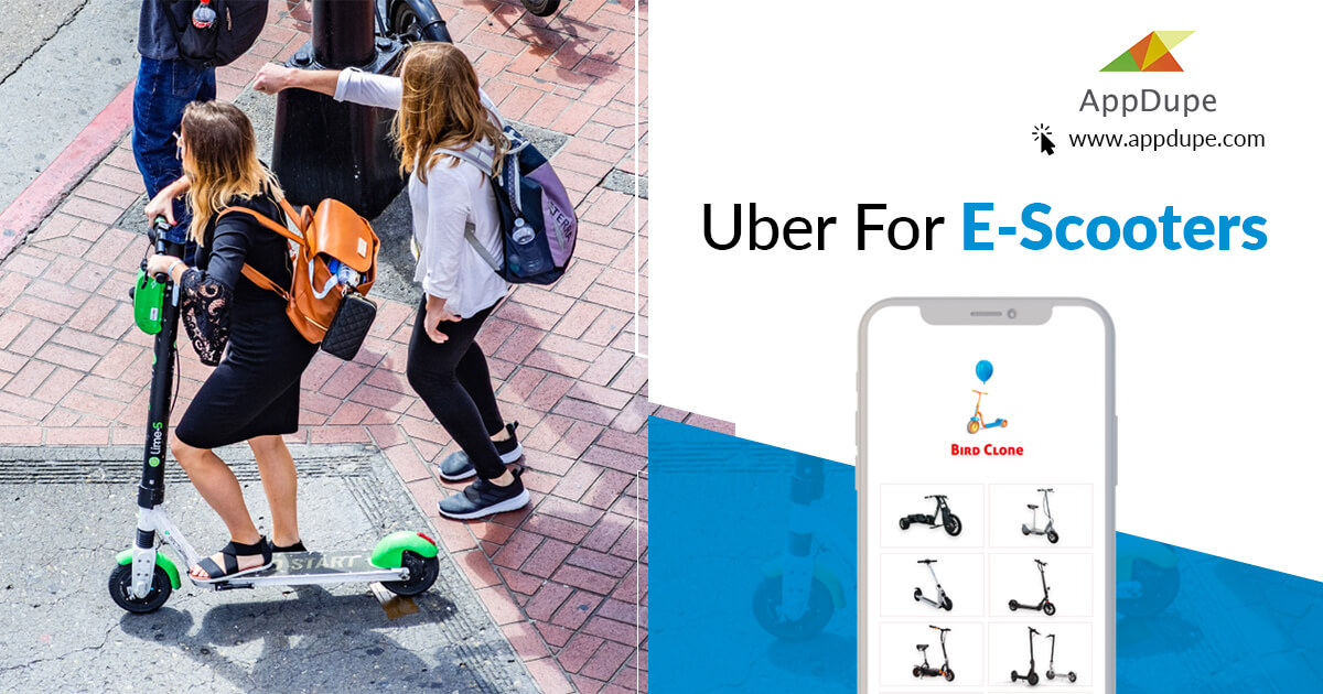 https://www.appdupe.com/uber-for-e-scooters website snapshot