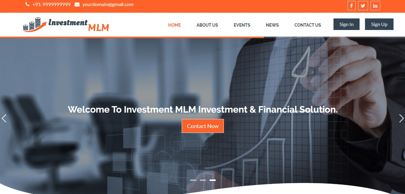 http://www.mlmscript.in/unilevel-investment-plan-mlm-software.html website snapshot