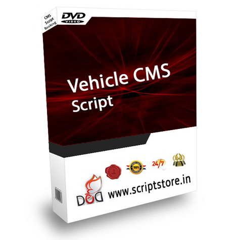 http://scriptstore.in/product/vehicle-cms-script/ website snapshot