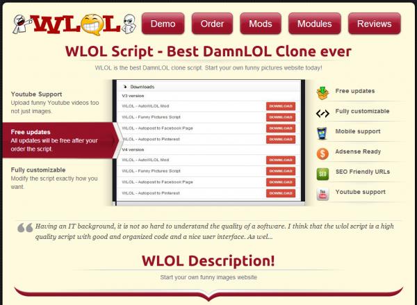 http://damnlolscript.com/wlol-demo.html website snapshot