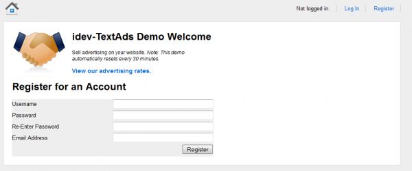 http://idevspot.com/TextAds2.php website snapshot